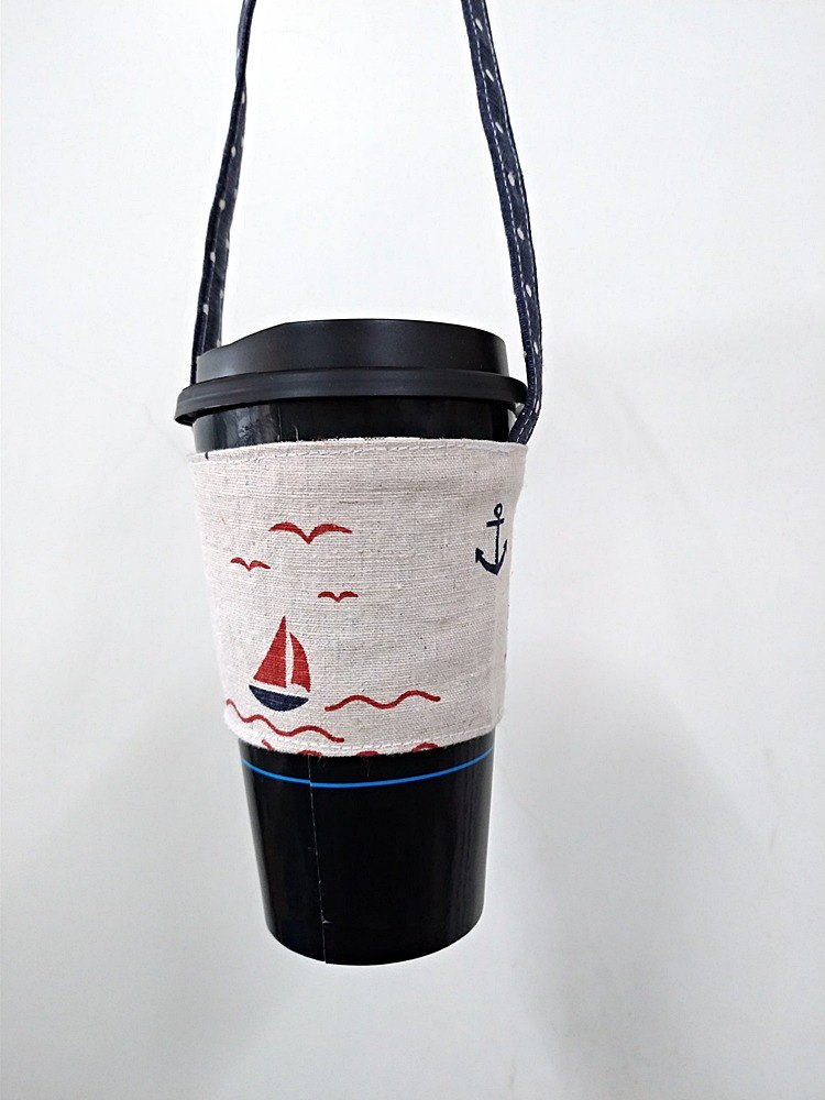 Drink cup sets environmental protection Cup sets of hand drinks bags coffee bag bag - Navy lice