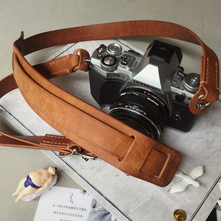 Retro SLR micro single film machine leather camera with Italian matte vegetable tanned leather handmade design customized