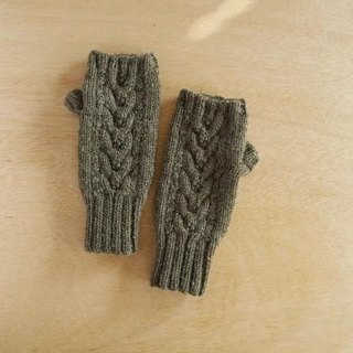 Alpaca wool's Alan hand warmer · smoke green toy production