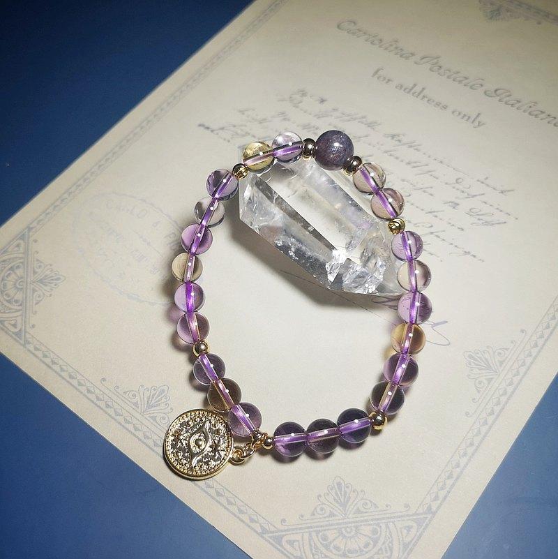 天然紫黃晶 設計手鍊