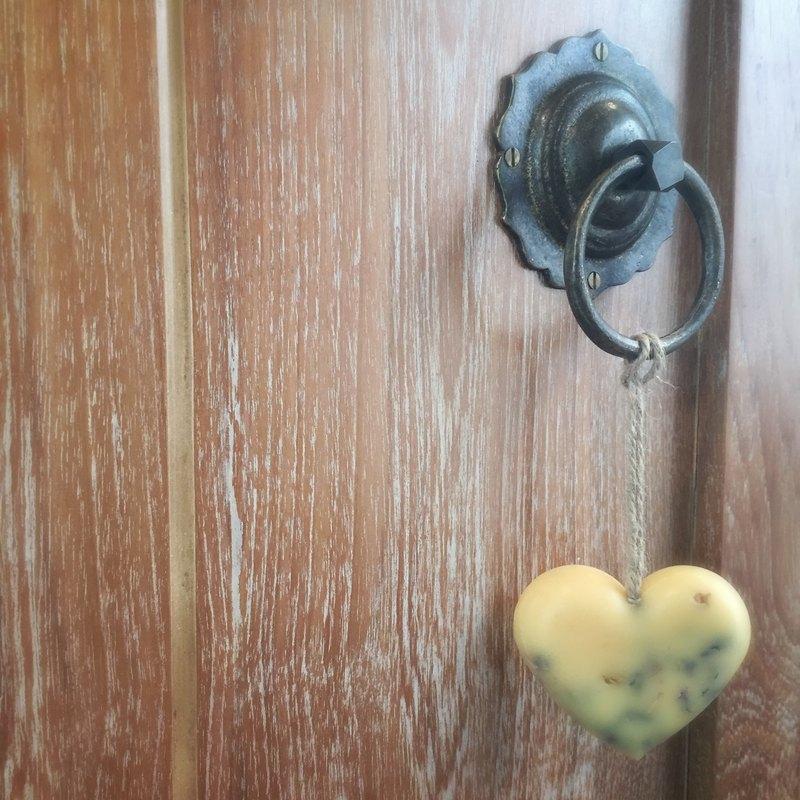 防蚊驅蟲香茅 大愛心天然香氛磚掛飾30g (含紗袋包裝)