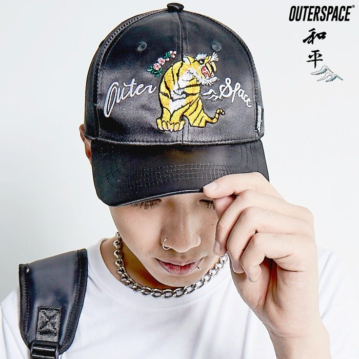 OUTER SPACE Yokosuka embroidery hard hat (black)
