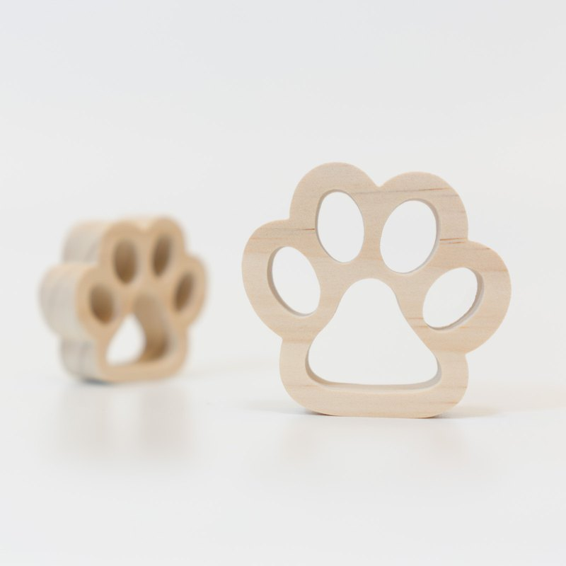 wagaZOO thick cut modeling blocks graphic series - dog's paw
