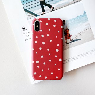 Autumn red dot phone case