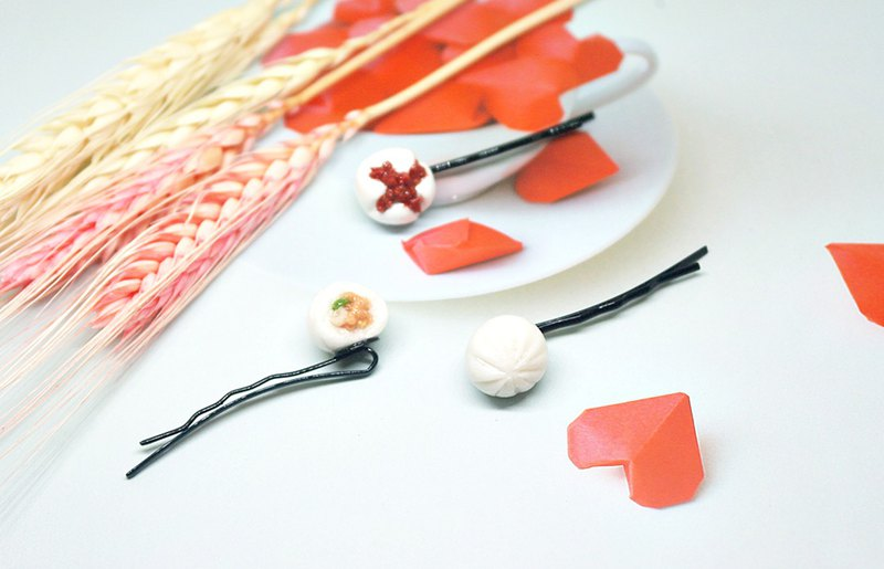 <Simulated Clay Hair Accessories> => Comprehensive Package Foods - Word Clip Series - #俏皮#可爱