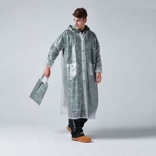BAOGANI Double Raincoat - Camouflage (Army Green)