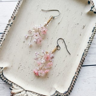 Momolico peach lily earrings small bouquet can be changed