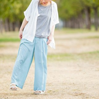 ☆ Palette ☆ 彡 cupra mixed thick wide pants