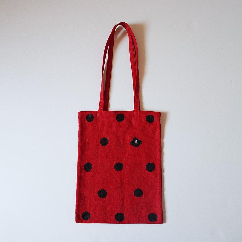手提包紅點山茶花