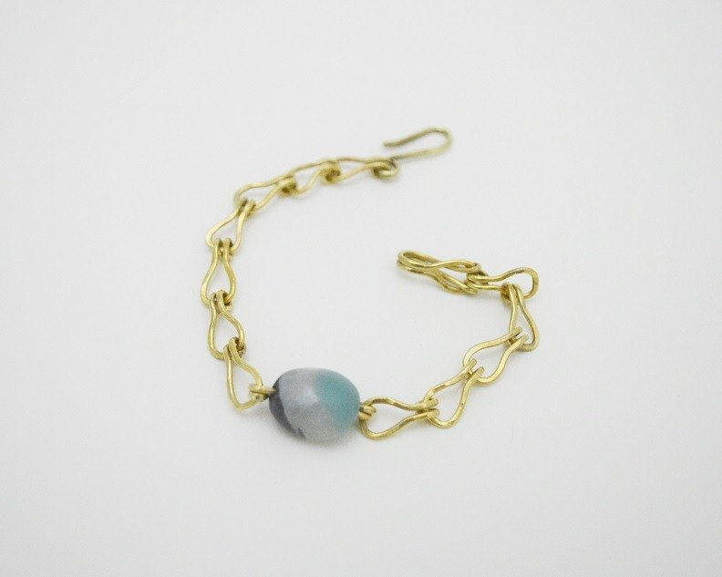 Untitled-Amazonite‧Brass Chain and link bracelets‧no.1