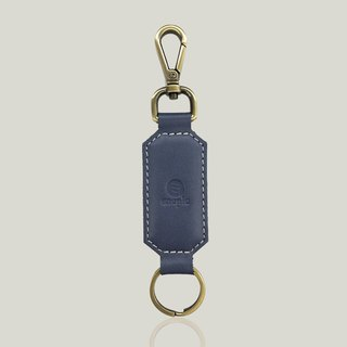 Champagne Champagne - Leather Keyring - Blue Grey [15% off new products]