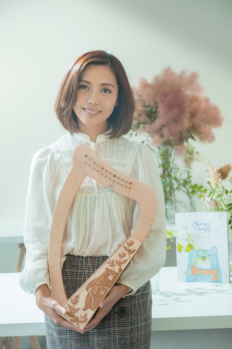 Pinkoi exclusive pre-sale handmade 12 string small harp even Taiwan version of the teaching set