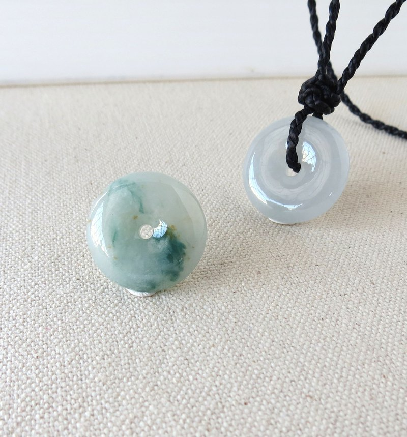 The birth year [Peace ‧ Ruyi] floating shower gold emerald silk wax line necklace BCH2 [four shares]
