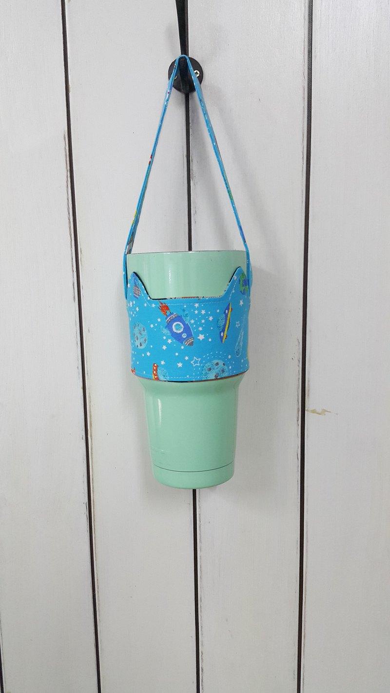 胖胖杯& 冰霸杯自選花色訂製下標區--貓耳朵帶著走環保飲料杯套提袋/雙面可用
