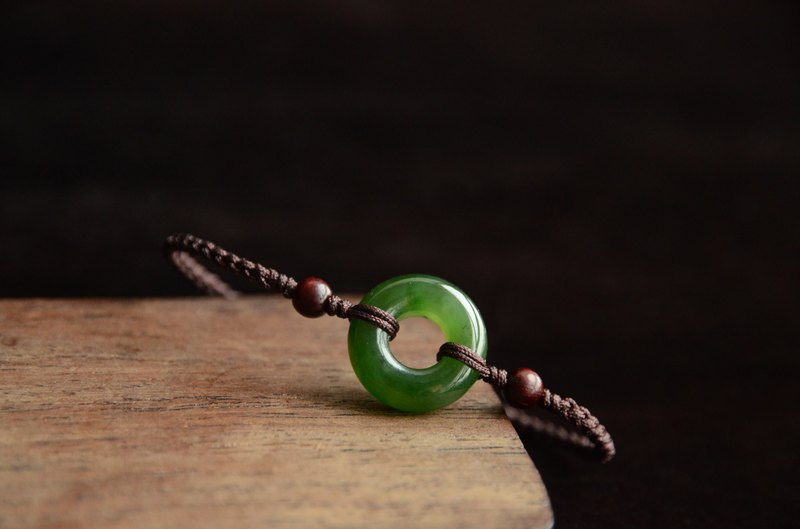 [Jasmine's] Natural jasper safety buckle hand-woven hand rope