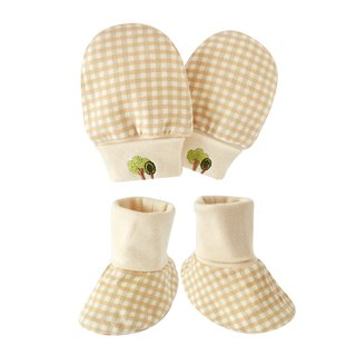 [SISSO organic cotton] classic lattice tree gloves x foot package