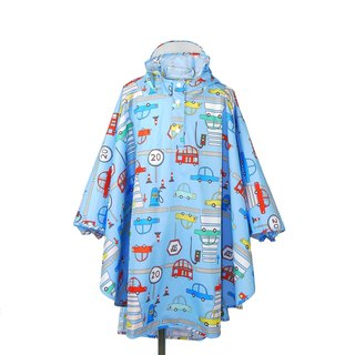 Waterproof breathable printed children raincoat <Busy traffic>