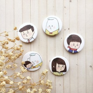 Cute family series | badge / magnet