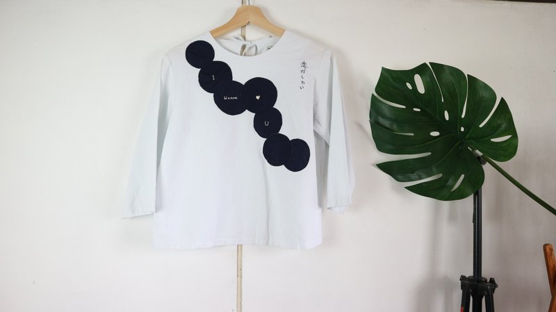 Basic top with hand embroidery