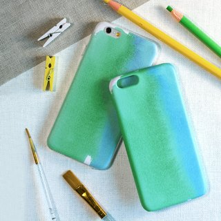 Blue and Green watercolors. Matte Case (iPhone, HTC, Samsung, Sony)