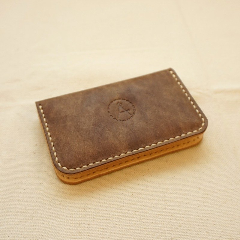 Snowflake series bilateral business card holder - chocolate brown