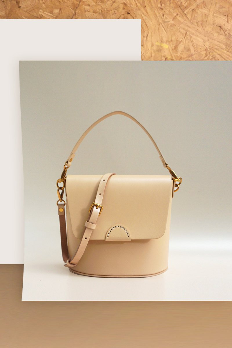 2019 summer new AMEET color colour series vegetable tanned leather shoulder diagonal hand bucket bag 5 colors