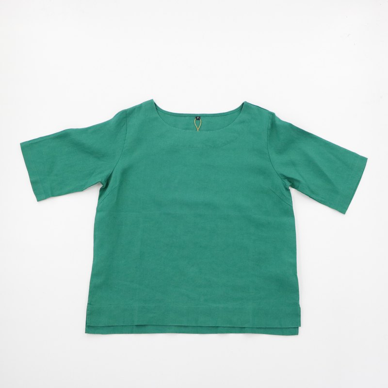 Linen tops - green / pre-order goods / over 1000 with a gift of 320 yuan cash vouchers