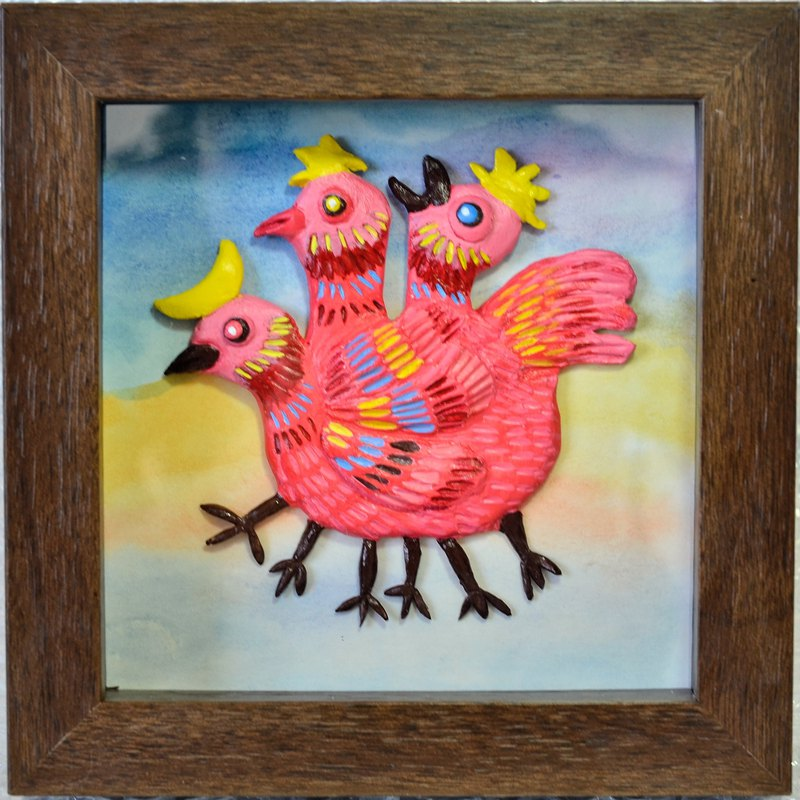 Small monster embossed decorative frame decoration