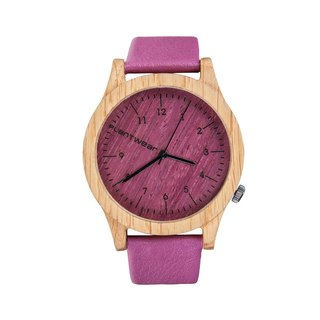 Plantwear – HERITAGE SERIES – PINK EDITION - OAK WOOD TIMBER WRIST WATCH