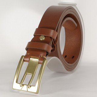 Handmade leather belt men and women belt brown 2L free customized lettering service