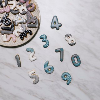 Leona hand-made icing cookies for biscuits ((Digital Password - Blue 8)