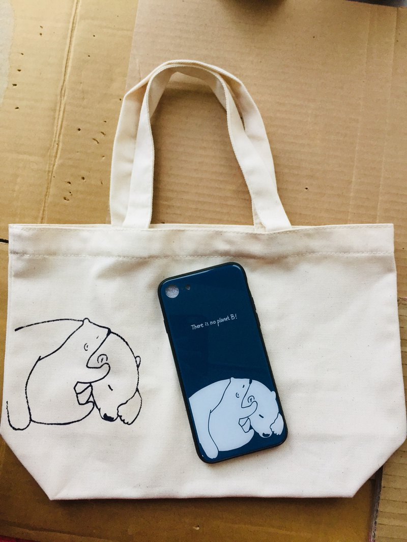 [Plus purchase] mobile phone case with the same canvas bag lunch bag (need to order with the phone case)