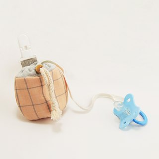 Elegant plaid baby pacifier beam bag