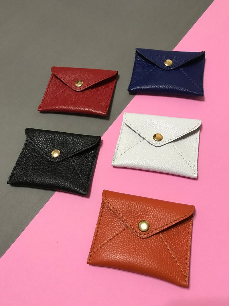 Color scheme. Real leather coin purse / small storage envelope bag