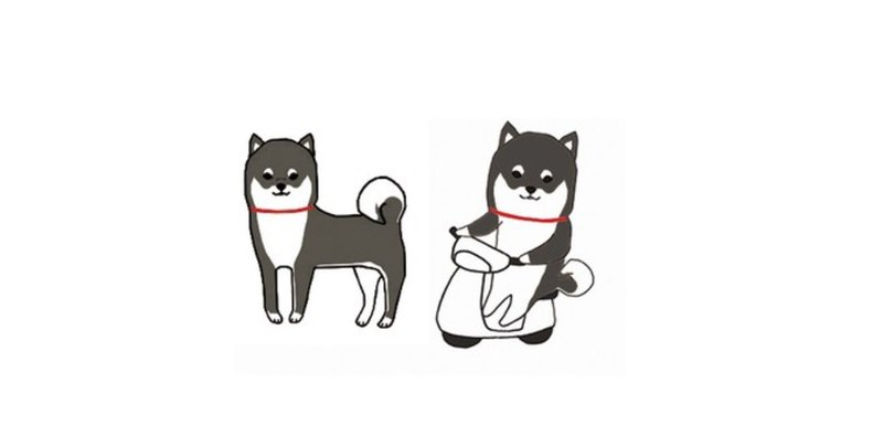 Black Shiba Inu Waterproof Sticker