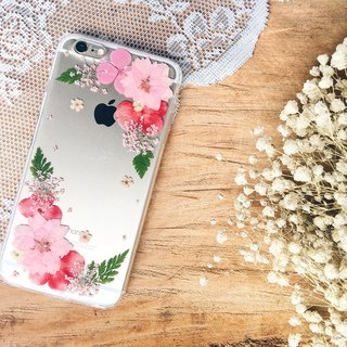 花花世界 • Sakura Handpressed Flower Phone Case