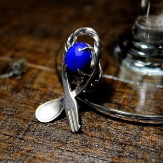 Bartenders Bar Spoon Broach - Lapis Lazuli