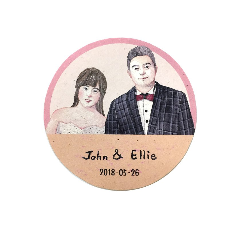 Marriage Memorial Illustration (can be used as a wedding sticker, electronic file does not contain printing)