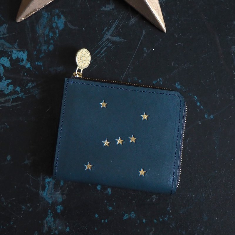L-shaped Zipper Wallet / ORION Night Blue ILL-1160