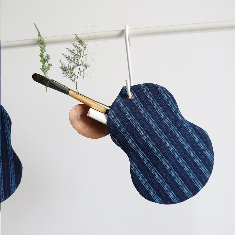 Thank you blue dyed hand-made gourd-shaped small hanging bag storage bag mobile phone bag