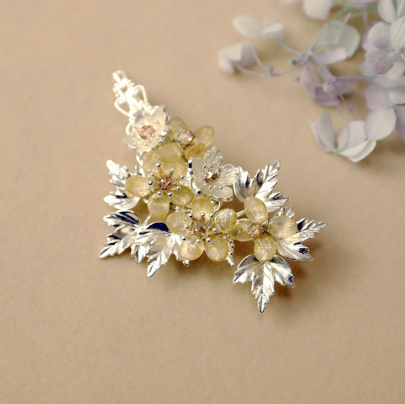 Handmade silver color hair clip hair accessories