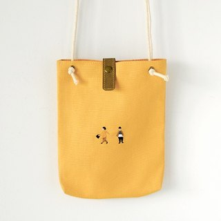 Playback side backpack - yellow