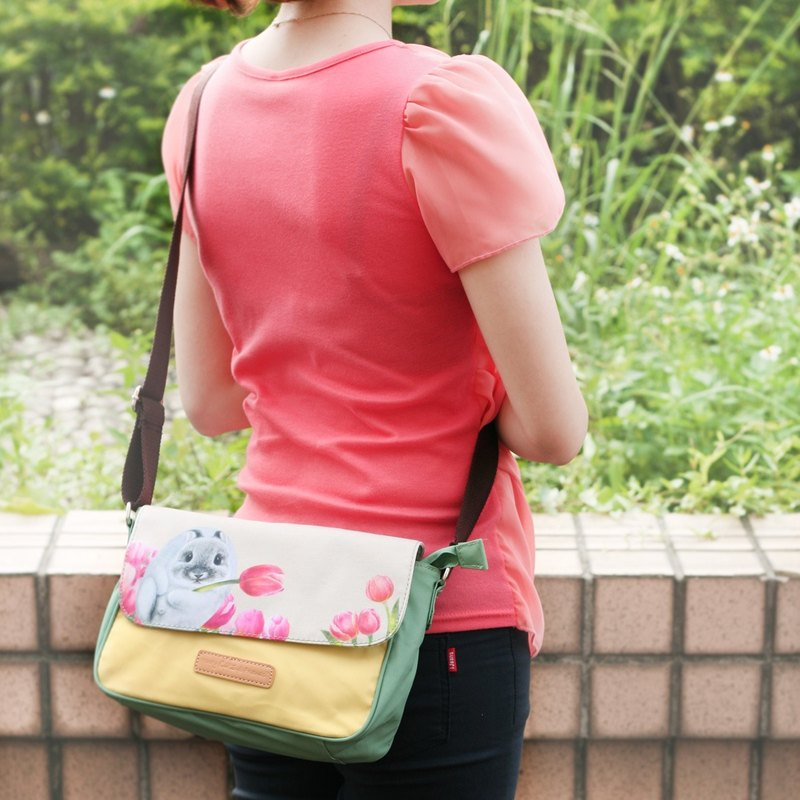 Small size waterproof cross-body bag - tulip
