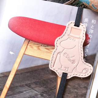 MOOMIN x Hong Kong-made leather Muming dad bookmarks original material package official authorization bookmark