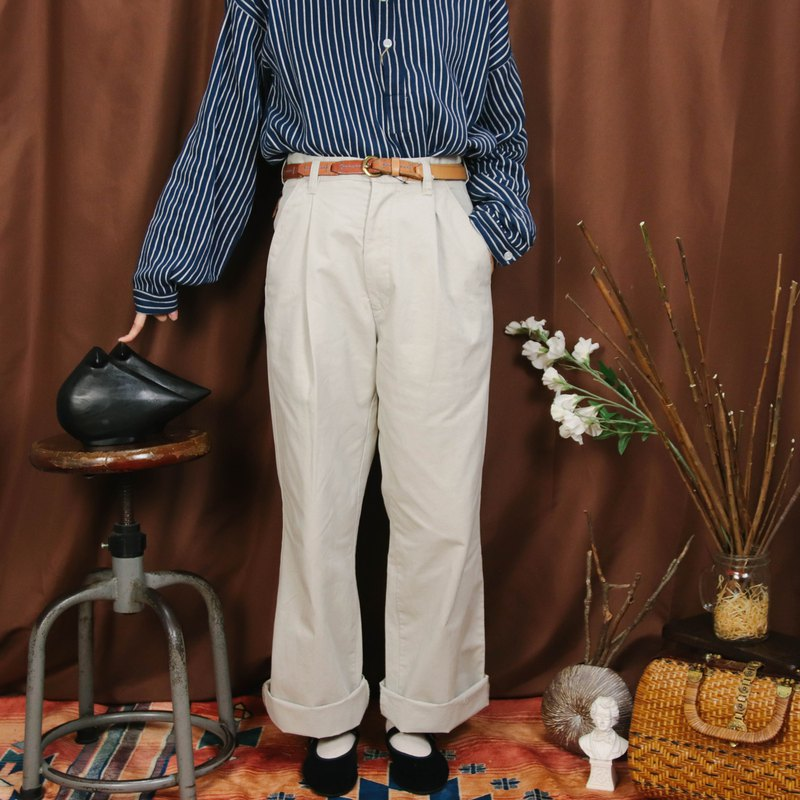 Vintage discount trousers 010 beige 26 waist, trousers Chino Pants 【Tsubasa.Y 古 着 屋】