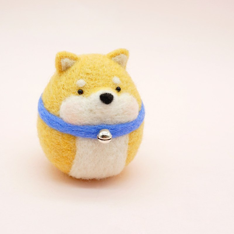 Wool Felting Shiba Inu Gifts for Dog Lover Fridge Magnet Keychain Brooch