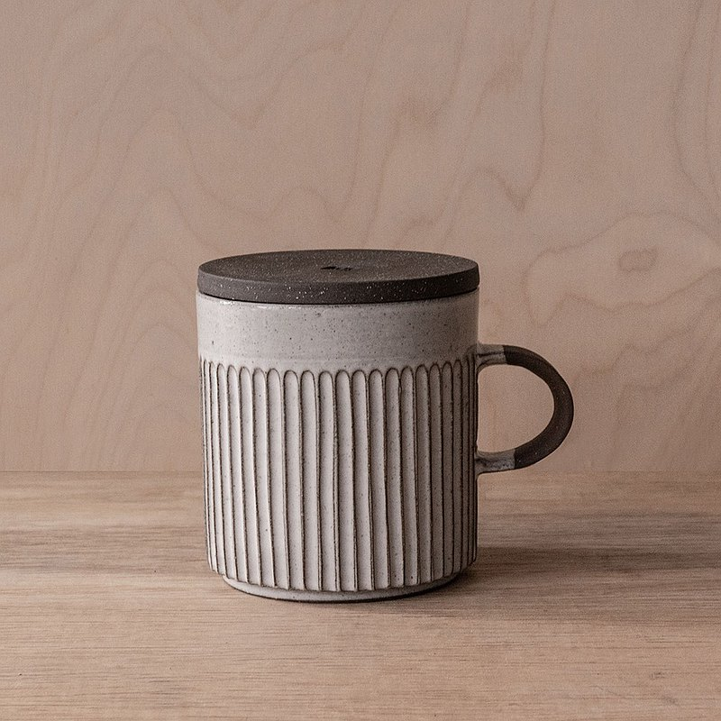 Made in the United States - no me series - straight grain mug 300ml + cup cover