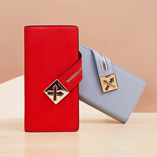 MBSMBS【Series of Heart Lock】Sugino Makes Fake Sugino Making Heart Lock Series Long Leather Women's Wallet with Metal Strap Mini Portable Backpack