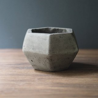 """Light cement series"" polygon basin (gray)"