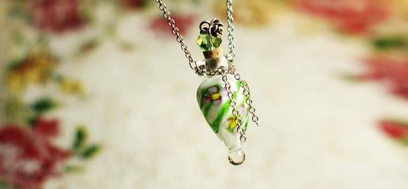Perfume bottles pendant / drop White